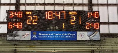 Tableau de hockey 4707-ETN (18' x 4') - Ville de Saint-Lambert